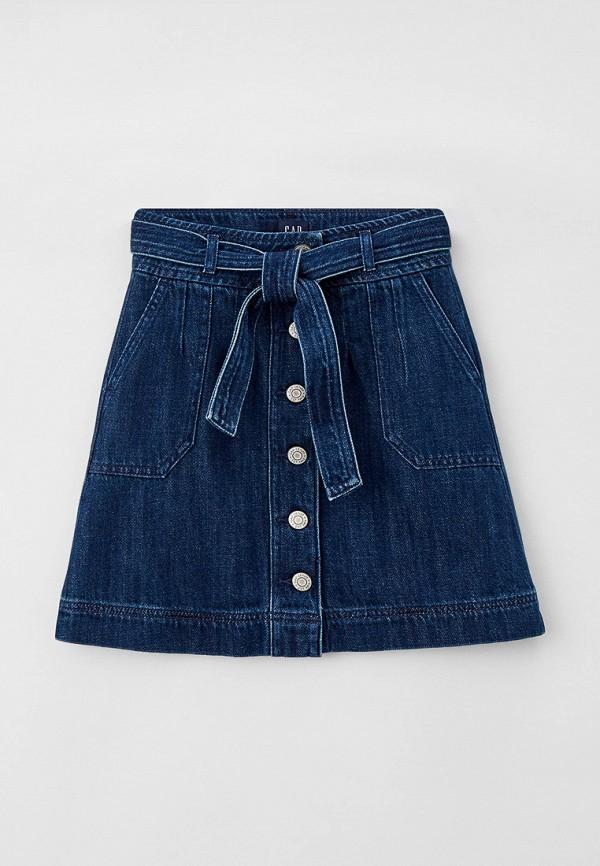 джинсовые юбка gap для девочки, синяя