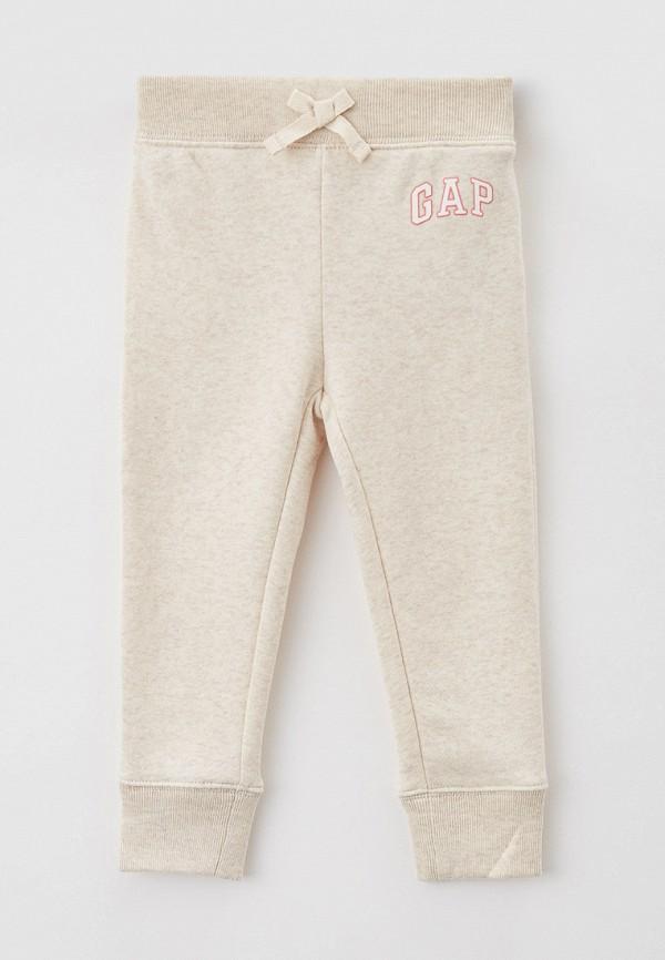 спортивные брюки gap для девочки, бежевые