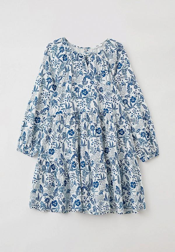 повседневные платье marks & spencer для девочки, голубое
