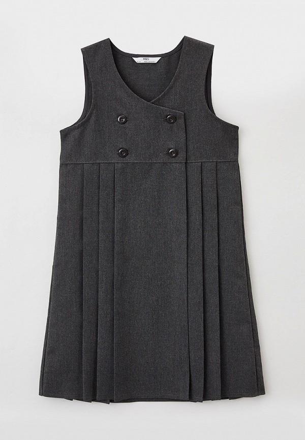 повседневные платье marks & spencer для девочки, серое