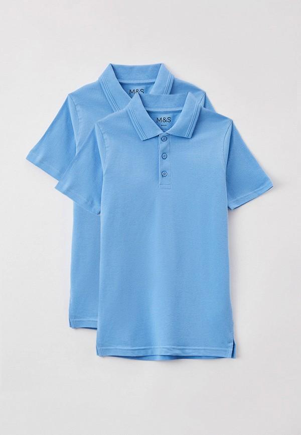 поло marks & spencer для мальчика, голубое