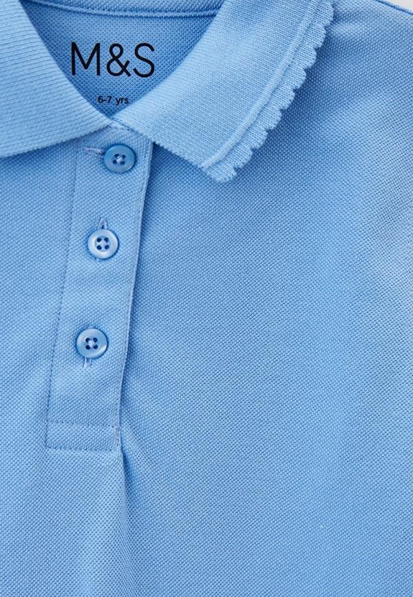 Поло для девочки Marks & Spencer T762058E0 Фото 3
