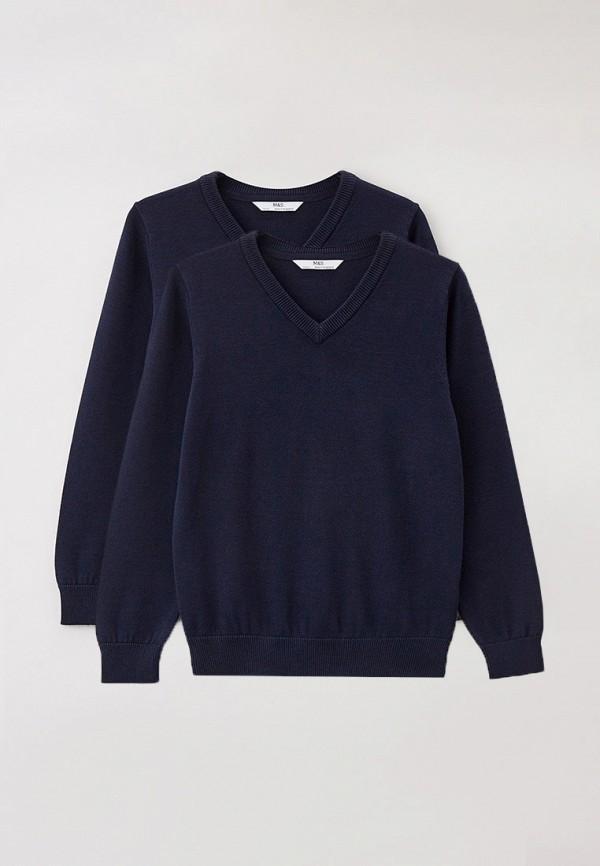 пуловер marks & spencer для мальчика, синий