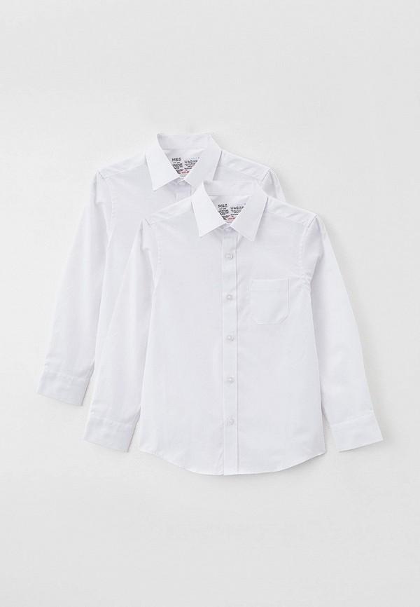 рубашка marks & spencer для мальчика, белая