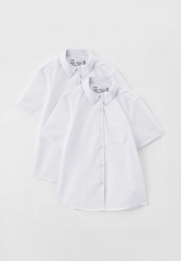 рубашка marks & spencer для девочки, белая