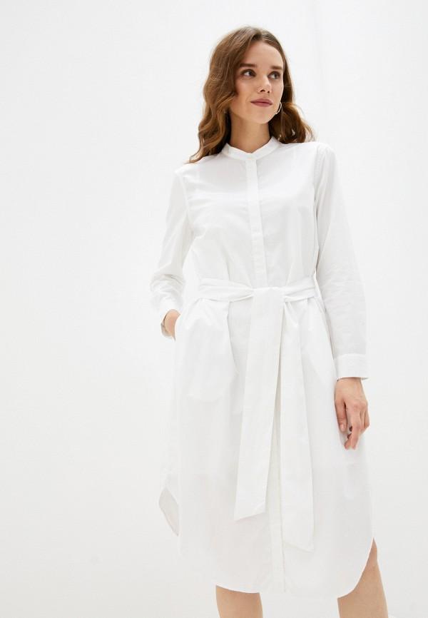 женское платье-рубашки banana republic, белое