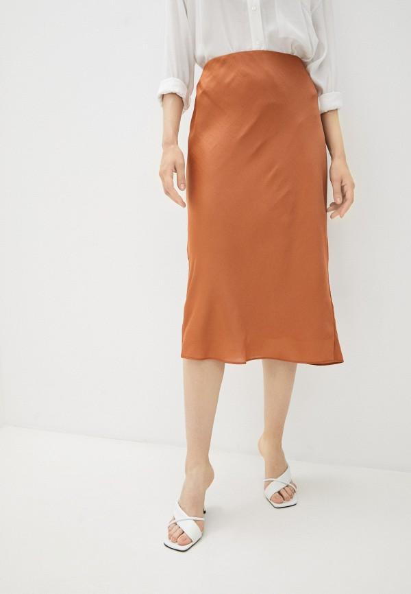 женская юбка-трапеции banana republic, коричневая