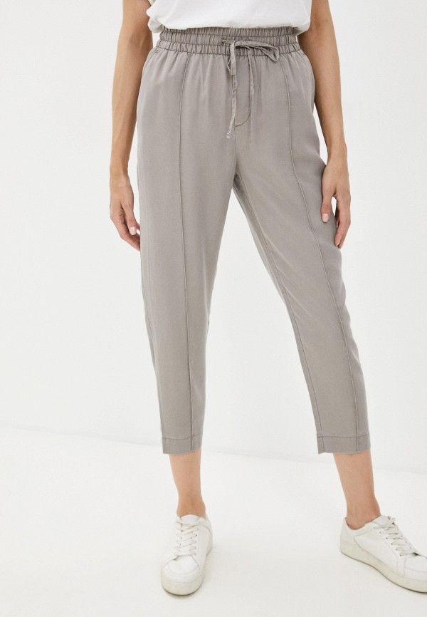 женские брюки джоггеры gap, серые