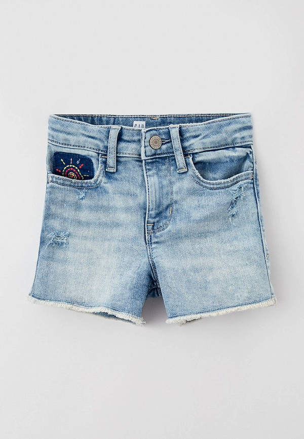 джинсовые шорты gap для девочки, голубые