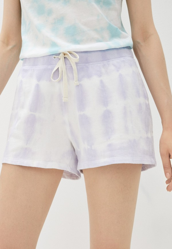 женские спортивные шорты gap, фиолетовые
