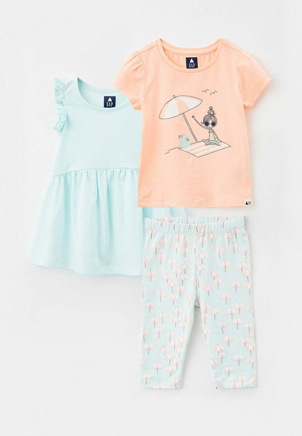 Комплект платье, футболка и брюки Gap