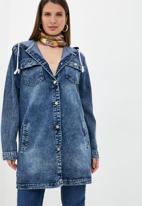 Куртка джинсовая Chic de Femme Chic de Femme CHOSS21147 синий фото