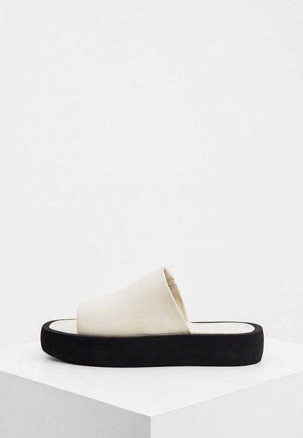 женское сабо by malene birger, белое