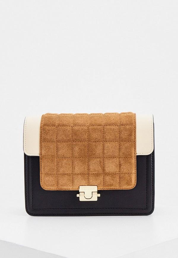женская сумка через плечо by malene birger, черная
