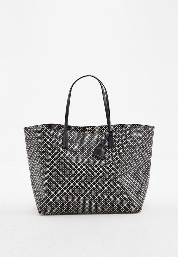 женская сумка-шоперы by malene birger, черная