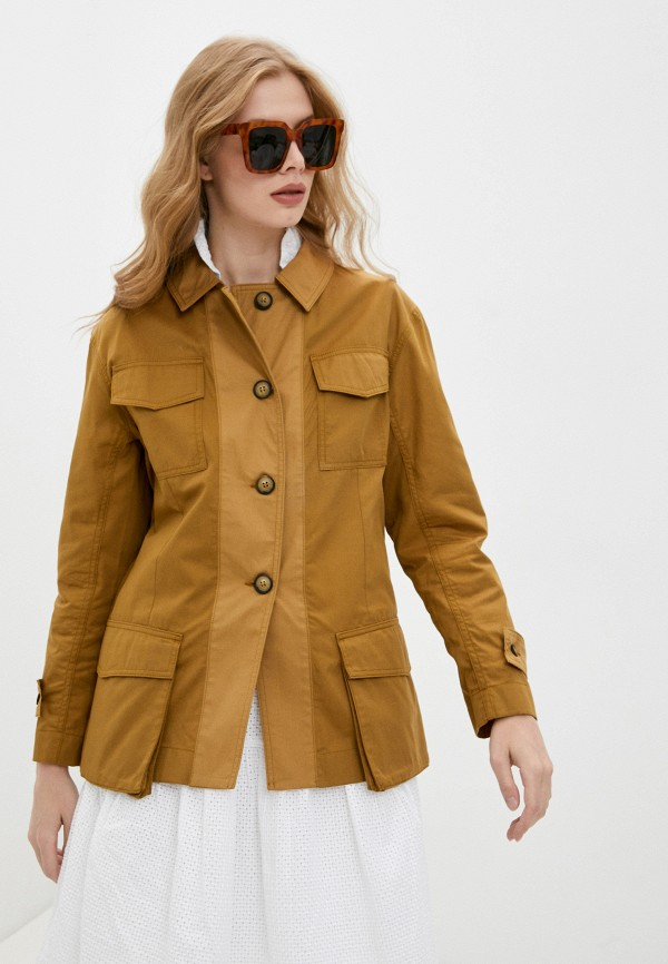 женская легкие куртка by malene birger, коричневая