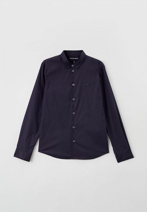 рубашка emporio armani для мальчика, синяя