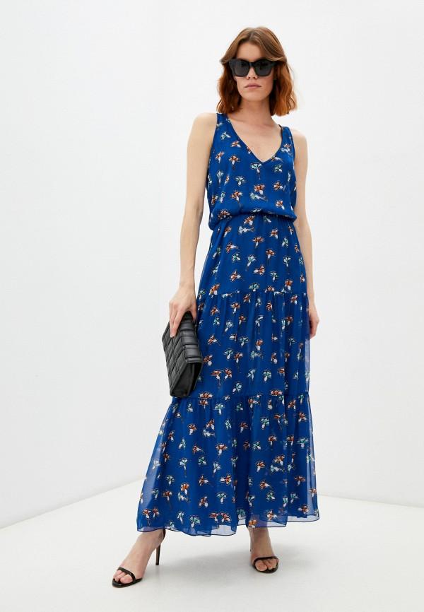 женское повседневные платье emporio armani, синее