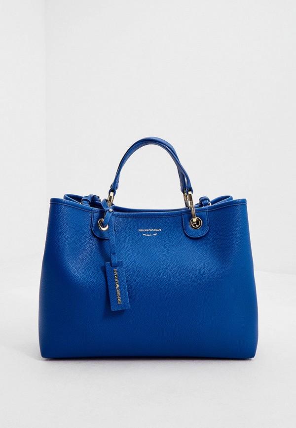 женский кошелёк с ручками emporio armani, синий