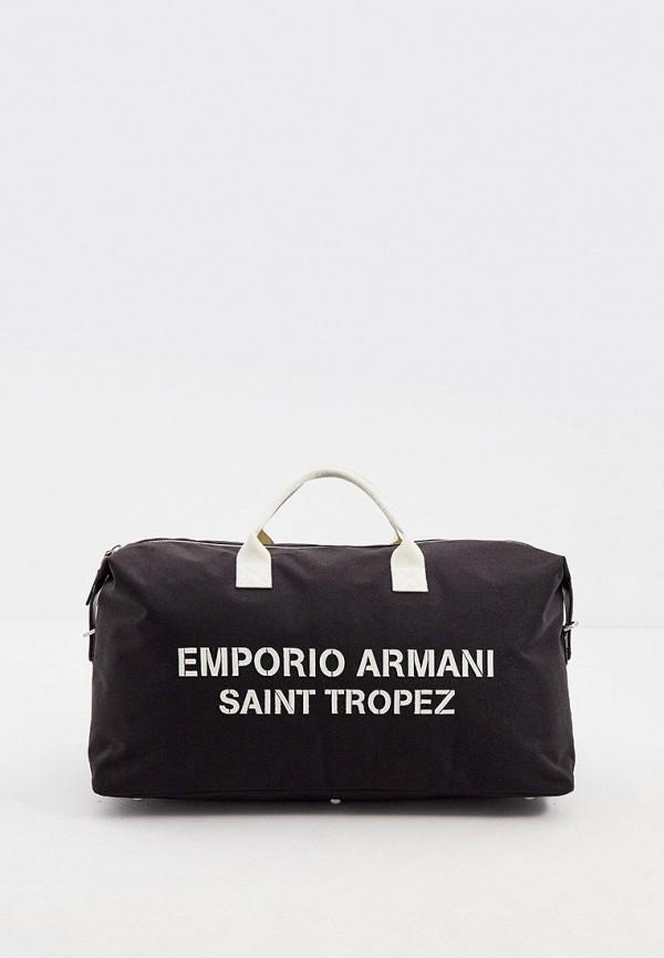 мужская дорожные сумка emporio armani, черная