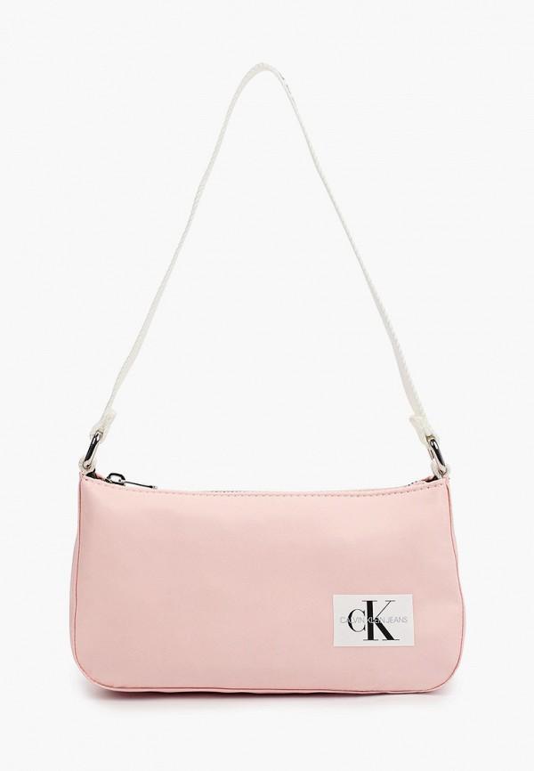 сумка calvin klein для девочки, розовая