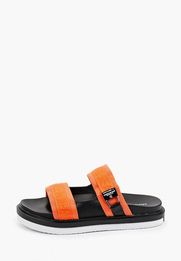 мужские сандалии calvin klein, оранжевые