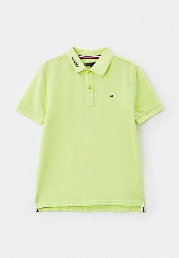 поло tommy hilfiger для мальчика, зеленое