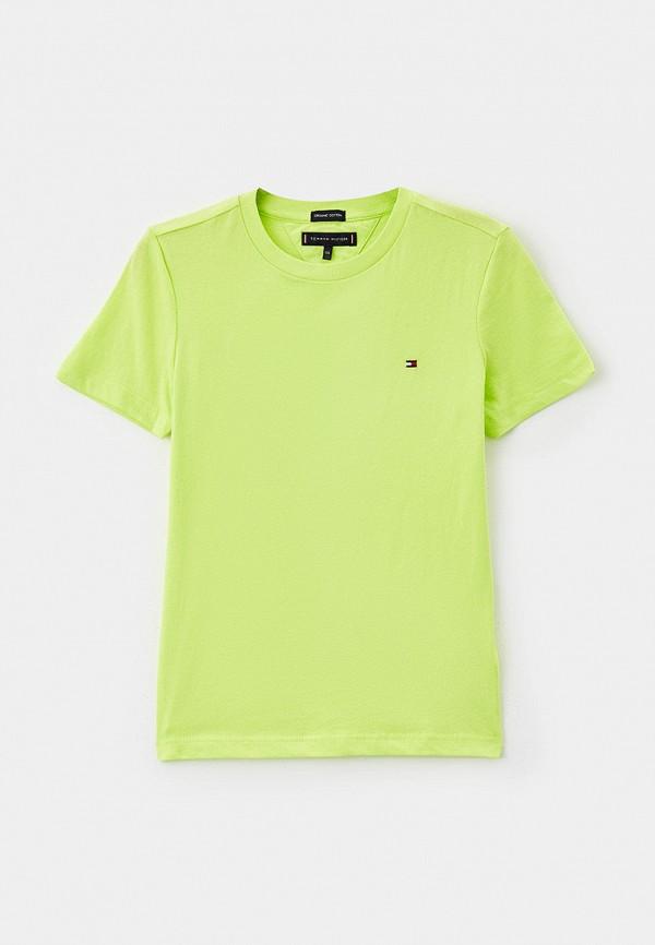 футболка с коротким рукавом tommy hilfiger для мальчика, зеленая