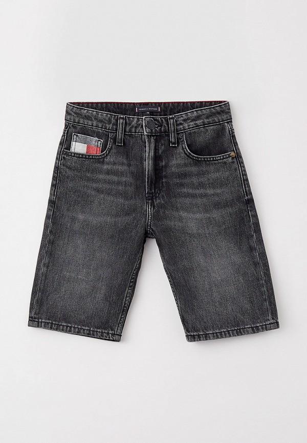 джинсовые шорты tommy hilfiger для мальчика, серые