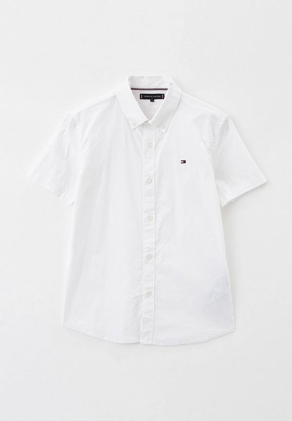 рубашка tommy hilfiger для мальчика, белая