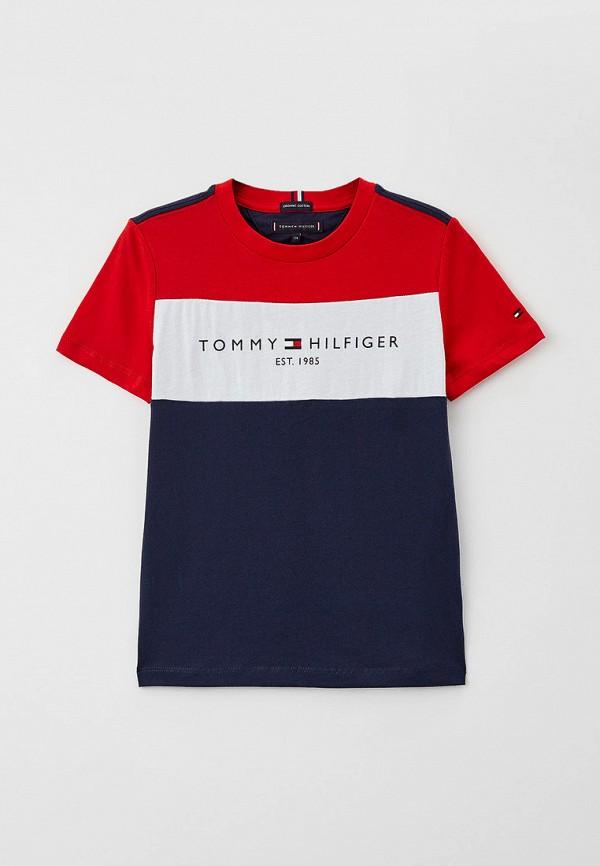 футболка с коротким рукавом tommy hilfiger для мальчика, разноцветная