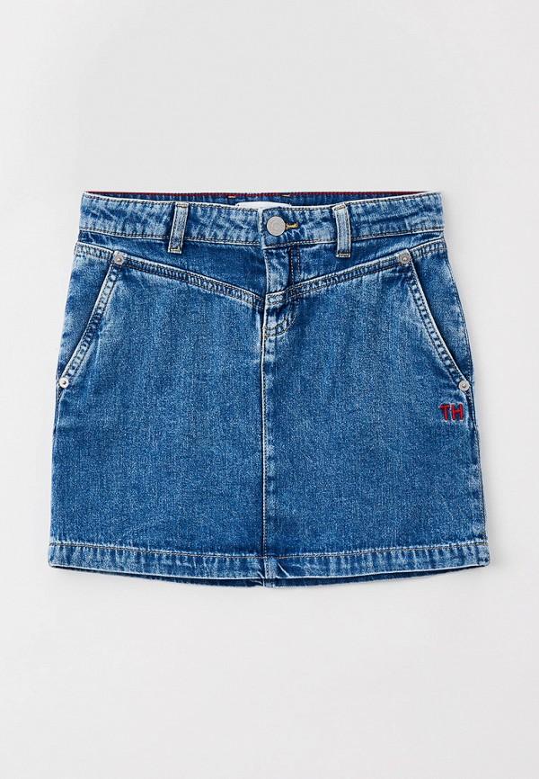 джинсовые юбка tommy hilfiger для девочки, синяя