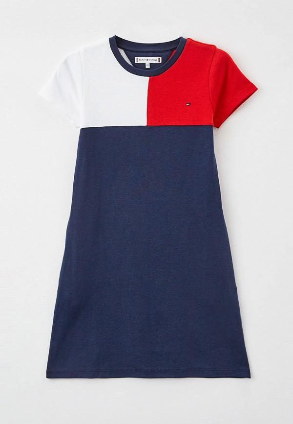 повседневные платье tommy hilfiger для девочки, разноцветное