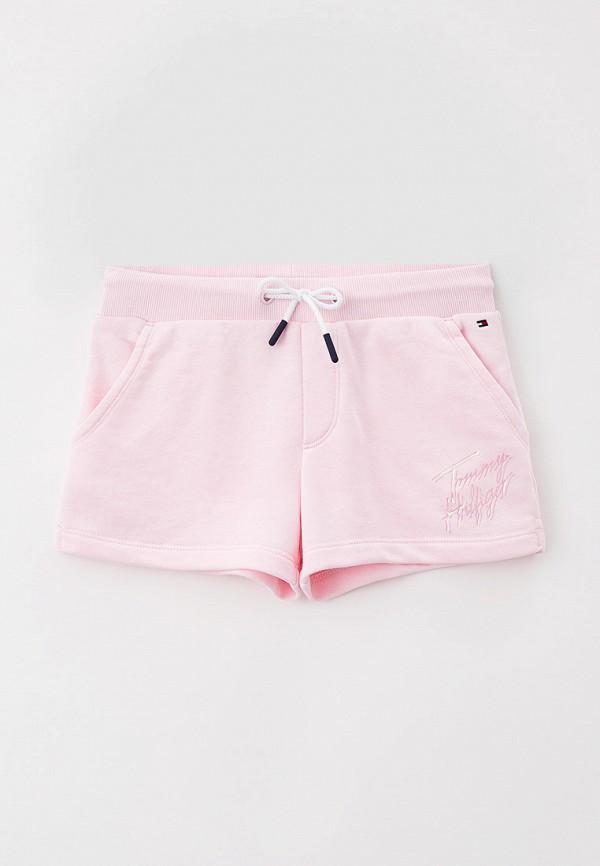 спортивные шорты tommy hilfiger для девочки, розовые