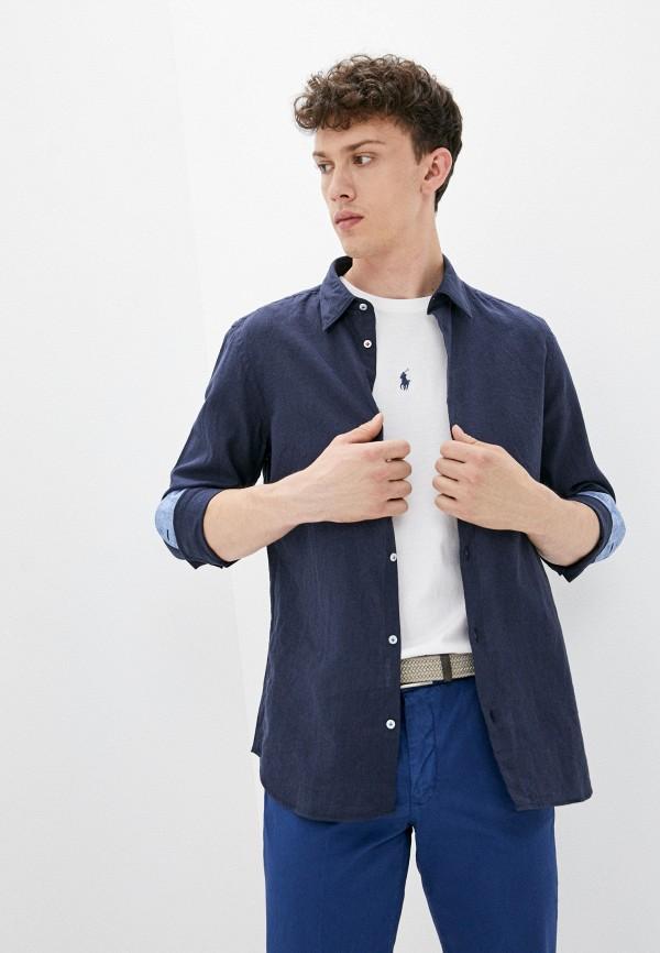 мужская рубашка с длинным рукавом manuel ritz, синяя