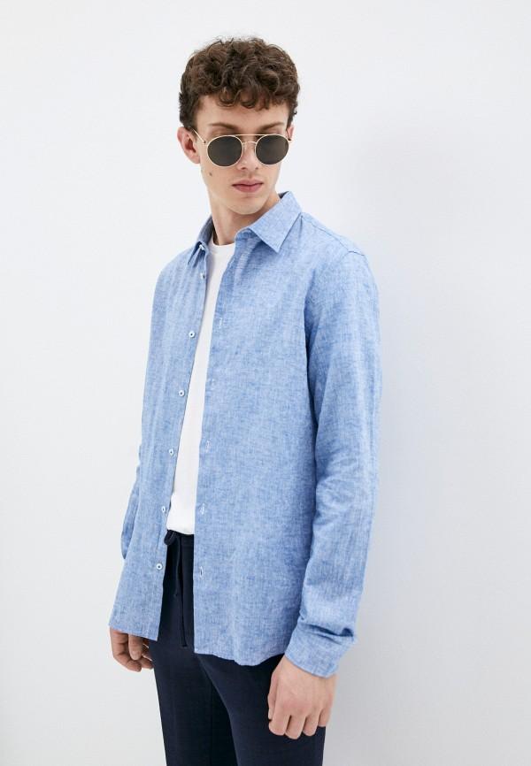 мужская рубашка с длинным рукавом manuel ritz, голубая