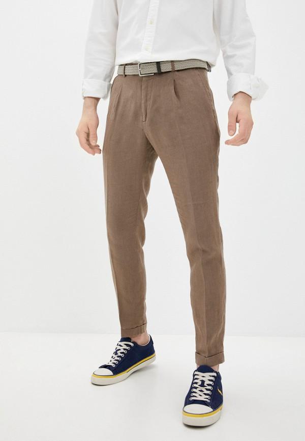 мужские зауженные брюки manuel ritz, коричневые