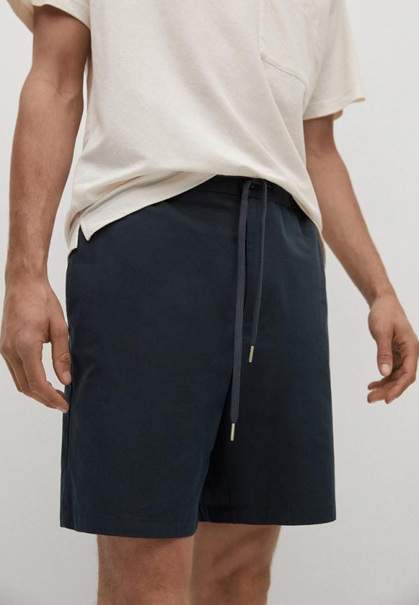 мужские повседневные шорты mango man, синие