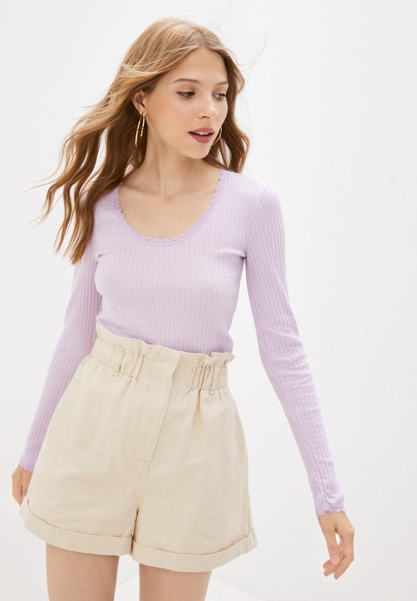 женский лонгслив topshop, фиолетовый