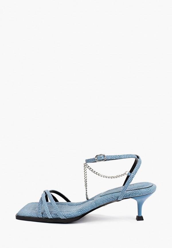 женские босоножки topshop, синие