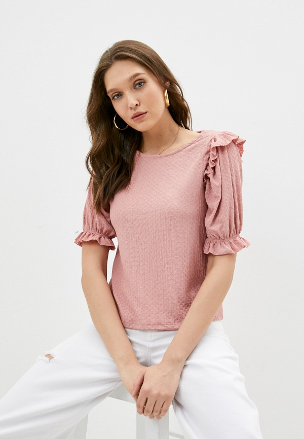 женская блузка koton, розовая
