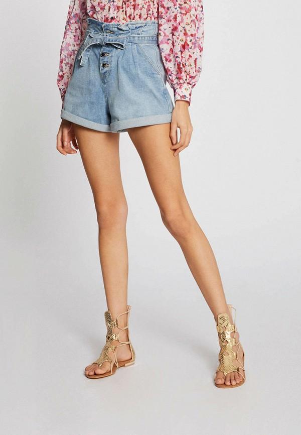 женские джинсовые шорты morgan, голубые