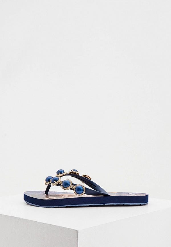 женские сланцы l.a. water, синие