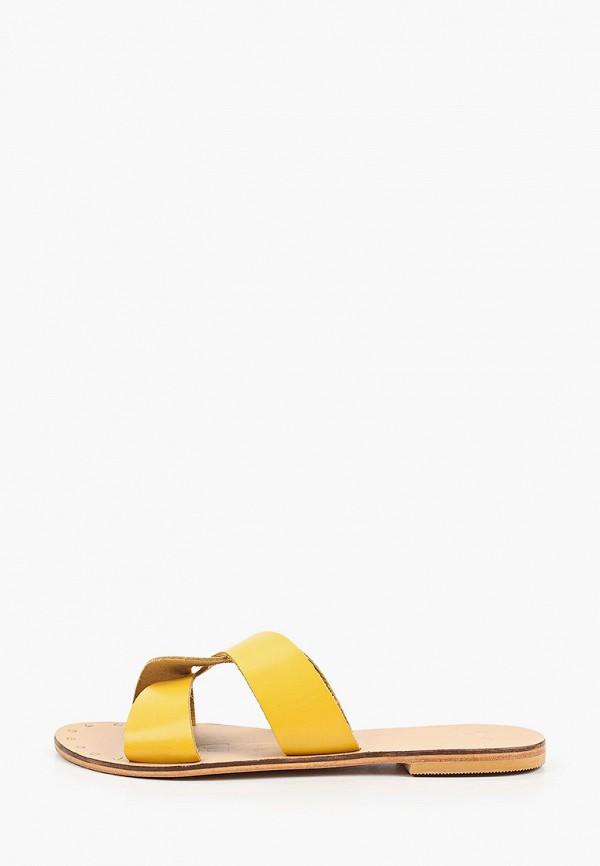 женское сабо manebi, желтое