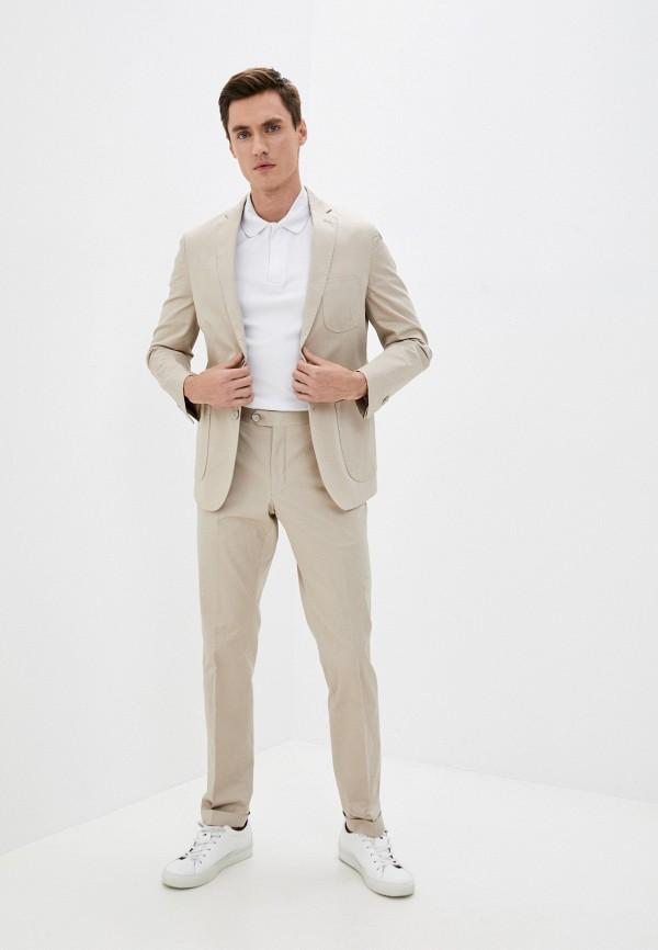 мужской костюм primo emporio, бежевый