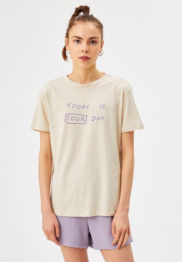 женская футболка koton, серая