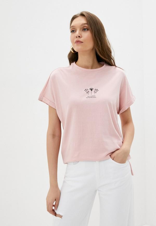 женская футболка koton, розовая
