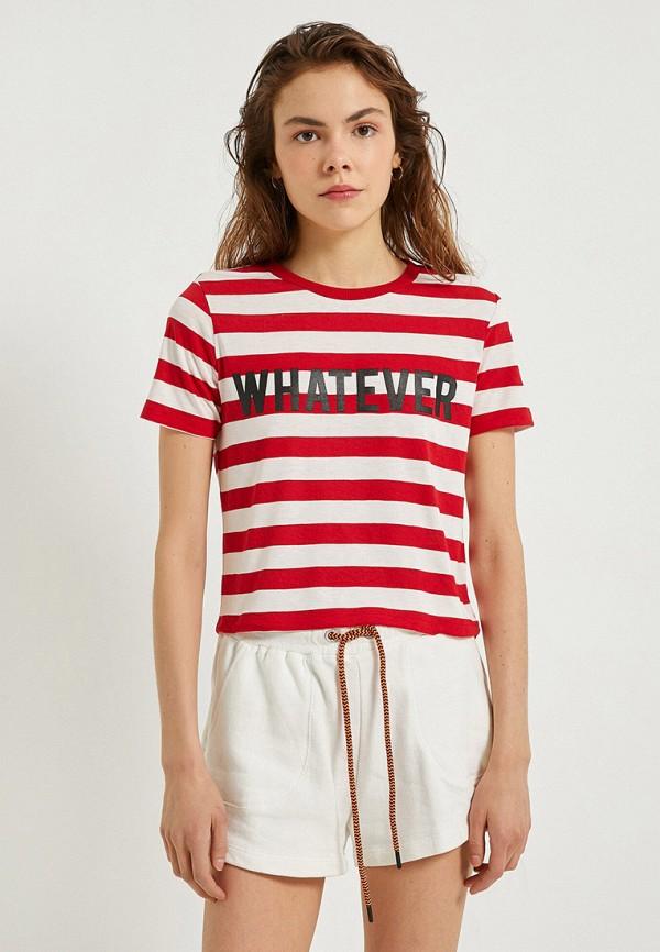 женская футболка koton, разноцветная