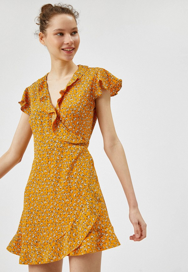 женское платье koton, желтое