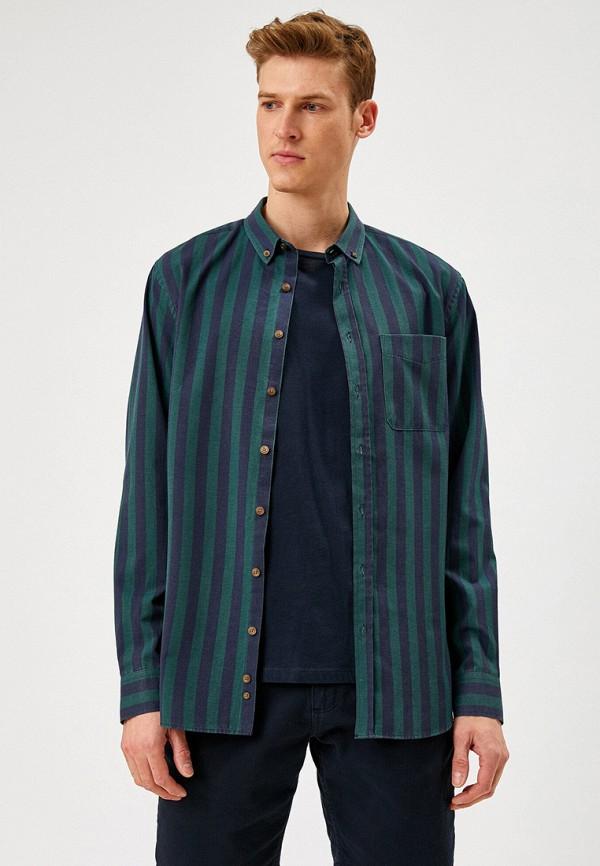 мужская рубашка с длинным рукавом koton, разноцветная